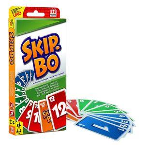 Mattel Skip-Bo im Thekendisplay für Kinder und Familie geeignete Kartenspiele