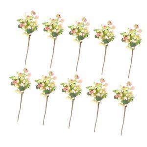 10 Stück künstliche Beeren , Rosa