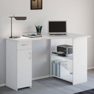 """VCM Eckschreibtisch Schreibtisch Büromöbel Computertisch Winkeltisch Tisch Büro """"Linzia"""" Weiß"""