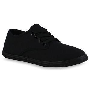 Giralin Damen Sneaker Low Schnürer Bequeme Stoffschuhe 836330, Farbe: Schwarz, Größe: 41