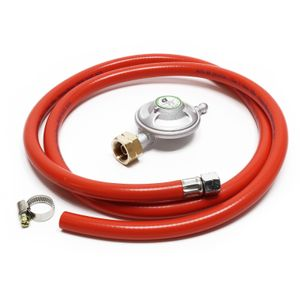 10.3€/m Gasschlauch 1,5 m Druckregler 28 mbar Druckminderer Gas Italien Gasdruck