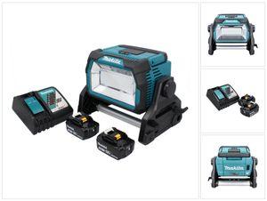 Makita DML 809 RF Akku LED Baustrahler 18 V 10000 lm + 2x Akku 3,0 Ah + Ladegerät