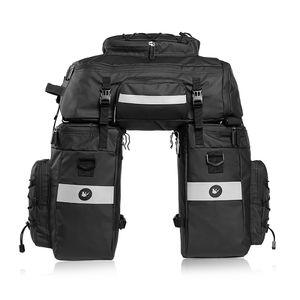 3 IN 1 Fahrradtasche Gepäckträger Taschet Groß Gepäcktaschen mit Regenschutz 70L