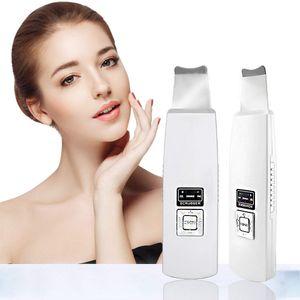 Ultraschall Gesichts Scrubber Reiniger, Facial Skin Scrubber, wiederaufladbar für Poren-Tiefenreinigung und Facial Lifting Werkzeug
