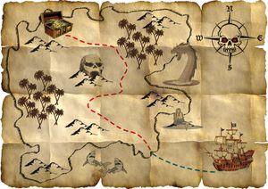 Red Pirate Piraten Schatzkarten Piraten Party 4 Stück