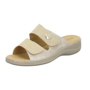 Donna Andrea Damen-Pantolette Beige, Farbe:beige/schlamm, EU Größe:39