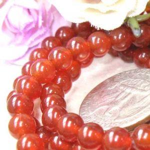 Rot Achat Rund Edelstein Perlen Loose Beads Perle  15 Inch