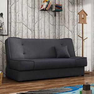 Mirjan24 Schlafsofa Gabi mit Bettkasten, 3 Sitzer Sofa, Couch mit Schlaffunktion, Stilvoll Bettsofa, Wohnzimmer Polstersofa (Inari 96)