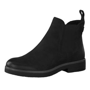 Tamaris Damen Stiefeletten 25310-25 Chealsea Leder Boots schwarz, Größe:39