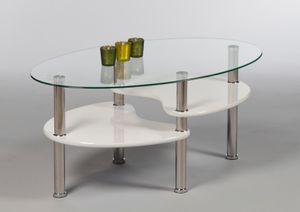 Couchtisch 16778 Wohnzimmertisch Tisch Glastisch Weiß