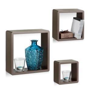 relaxdays Wandregal Cubes 3-teiliges Set