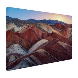 Leinwand Bilder - 120x80 cm - Danxia Landschaft China  - Modernes Wandbilder