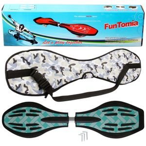 FunTomia® mit LED-Rollen - 2844 - Design türkis Flechte - Waveboard ORIGINAL