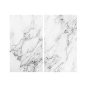 Zeller Present 26312 Abdeckplatten / Schneideplatten, je 30 x 52 x 1 cm, grau/weiß (2er Pack)