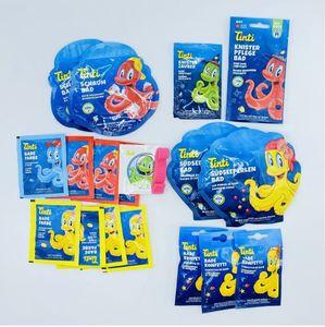 Tinti 18-teiliges Badeset für Kinder Farben Confetti Knister und Schaum 76,5 g