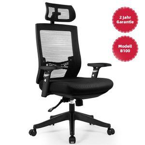 Aiidoits Bürostuhl Ergonomisch Schreibtischstuh mit Einstellbare Armlehnen Kopfstütze und Lordosenstütze Höhenverstellung, bis 150kg/330LB