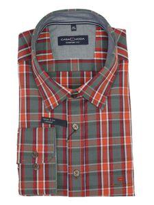 Langarm Freizeithemd mit Kentkragen von Casa Moda orange, Größe:7XL