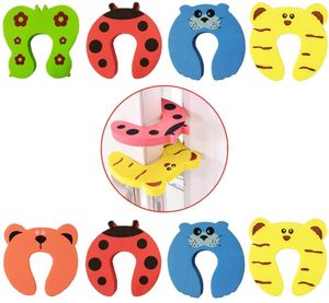 Türstopper 8er Set Kindersicherung - Finger Klemmschutz für Türen und Schubladen in 5 Farben
