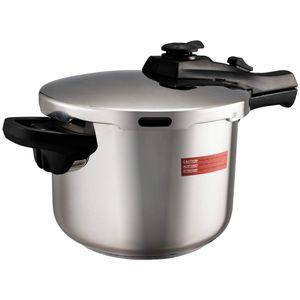 COSTWAY Schnellkochtopf Pressure Cooker Dampfkochtopf Kochtopf wmf Edelstahl 6 L mit Sicherheitsventil Auspuff Dampfgitter 42,5 x 24,8 x 23cm