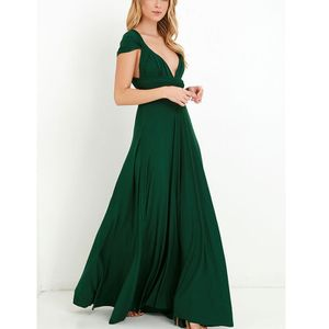 Frauen Cocktailkleid Brautjungfer formelles langes Kleid Abendkleid,Farbe: Grün,Größe:L