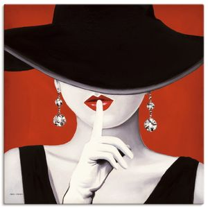 ARTland Leinwandbilder Hut ab I Leinwandbild auf Keilrahmen Größe: 100x100 cm