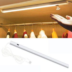 50cm LED Unterbauleuchte Lichtleiste USB Sensor SchrankLicht Küchenleuchte Weiß