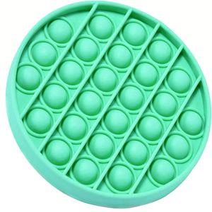 Push Pop Bubble Sensory Fidget Spielzeug Autism Stress Relief Kinder Game Runden (Grün)