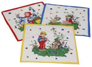 Betz 12 Stück Kinder Stoff Taschentücher Kindertaschentücher Set Größe 26x26 cm 100% Baumwolle Märchen Motive Design 5
