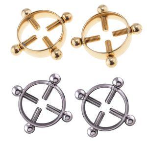 4 Stücke Edelstahl Nippel Ring Körperschmuck verstellbare Nippel Bars Bauchnabel für Frauen Männer