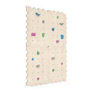 Kletterwand Indoor für Kinder mit Griffe | Kletterwand Kinderzimmer minimalistisches Design Pastellfarben