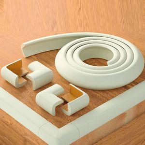 Ailiebe Design® Weicher Kantenschutz Kindersicherung 2 Meter mit 4x Eckenschutz Schaumstoff mit 3M Kleber