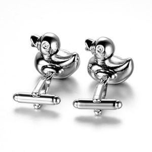 Paar Enten Manschettenknöpfe Ente Form Design Manschettenknöpfe Handgefertigt Anzug Hemd wie beschrieben Silber + Silber
