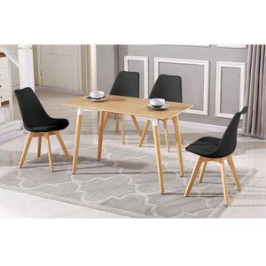 4er Set Esszimmerstuhl Kunstleder Polstersessel Loungesessel Stuhl Küche Esszimmer schwarz