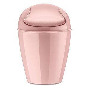 Koziol Del XXS Schwingdeckeleimer, Papierkorb, Mülleimer, Abfalleimer, Kunststoff, Powder Pink, 900 ml, 5779638