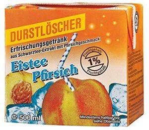 Durstlöscher Eistee Pfirsich Fruchtsaftgetränk 500ml 48er Pack