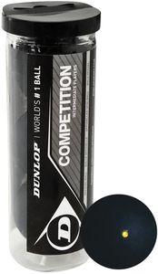 Dunlop Squashbälle Wettbewerb gelber Punktgummi schwarz 3 Stück