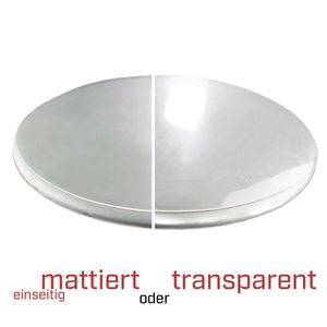 Premium PVC Tischdecke Tischfolie Tablecloth Tischschutz RUND  transparent matt, Ausführung:transparent, Durchmesser:80 cm Ø