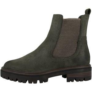 Tamaris Damen Stiefeletten Chelsea Boots Stiefel 1-25418-27, Größe:41 EU, Farbe:Grün