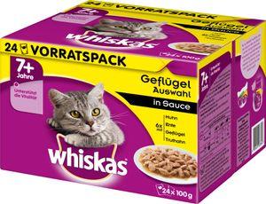Whiskas mit Geflügelauswahl in Sauce (ab 7 Jahre); 24 x 100g