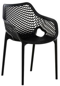 CLP Stuhl Air XL stapelbar mit einer Sitzhöhe von 44 cm, Farbe:schwarz