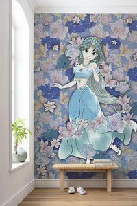 "Komar Vlies Fototapete ""Jasmin Colored Flowers"" - Größe: 200 x 280 cm (Breite x Höhe), 4 Bahnen"