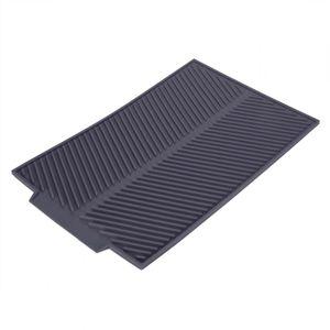 Abtropfmatte Geschirrablage Silikon-Pad spülmaschinenfest rutschfest Hitzebeständig Geschirr Küchen  Trockenmatte 39x25 cm