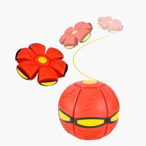 Magischer UFO-Ball, Fliegende Untertasse Ball, Magisches Verformungslicht UFO-Spielzeug, Spielzeug für Kinder im Freien, Garten, Strand(ROT)