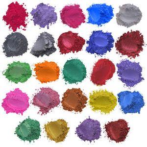 Epoxidharz Metallic 24 Farben x5g Seifenfarbe Set Farbpigment Pulver Glimmer