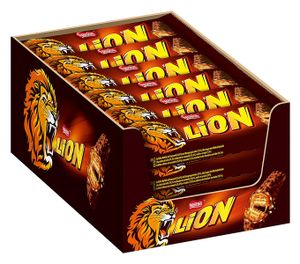 Nestle Lion Schokoladenriegel mit Karamell und Cerealien 42g 24er Pack
