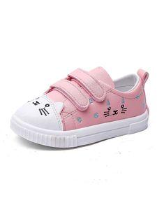 Kinder Cartoon Magische Aufkleber Low-Top-Sneakers Lässige Sneakers,Farbe: Pink,Größe:25