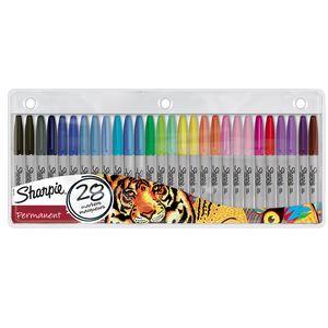 Sharpie Permanent Marker | Marker Stifte mit feiner Spitze | gemischte Farben | 28er Set