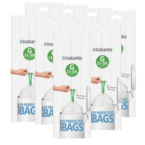 Brabantia Müllbeutel Smartfix (G) 23-30 Liter, 20 Mülltüten (9er Pack)