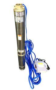 CHM GmbH® Tiefbrunnenpumpe 3 Zoll Sandverträglich 0,75 kW 3780 l/h u. Motorschutzschalter