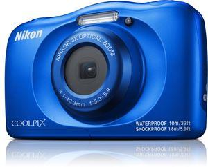 Nikon Coolpix W150 Kompaktkamera 14,2 MP Wasserdicht Stoßfest Staubdicht Camera, Farbe:Blau